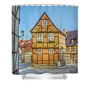Germany - Half-timbered Houses And Alleys In Quedlinburg Shower Curtain