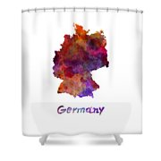 Germany In Watercolor Shower Curtain