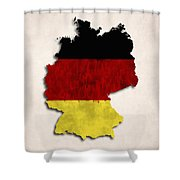 Germany Map Art With Flag Design Shower Curtain