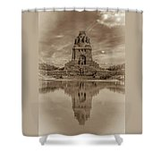 Germany - Monument To The Battle Of The Nations In Leipzig, Saxony, In Sepia Shower Curtain