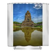 Germany - Monument To The Battle Of The Nations In Leipzig, Saxony Shower Curtain