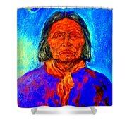 Geromino - Chiricahua Apache Leader Shower Curtain