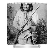Geronimo Apache Indian Native American Shower Curtain