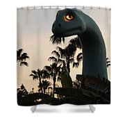Gertie In The Trees Shower Curtain