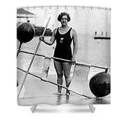Gertrude Ederle (1906-2003) Shower Curtain