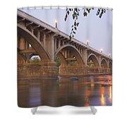 Gervais Bridge Shower Curtain by Steven Richardson