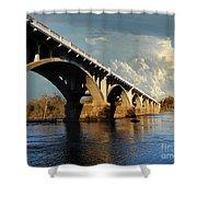 Gervais Street Bridge, Columbia, Sc Shower Curtain