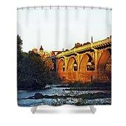 Gervais Street Bridge Upstream  Shower Curtain