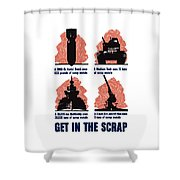 Get In The Scrap - Ww2 Shower Curtain