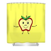 Get Physical Apple - Health Shower Curtain