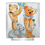 Get Ready Teddy Shower Curtain