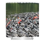Get Ready To Ride Shower Curtain