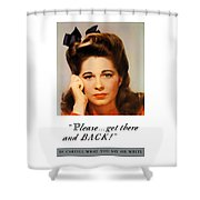 Get There And Back - Ww2 Shower Curtain