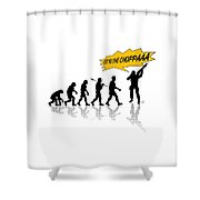 Get To The Choppa Shower Curtain