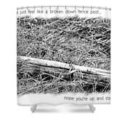 Get Well Post Shower Curtain