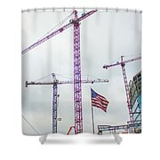 Getter Done Tower Crane Construction Art Shower Curtain