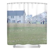 Getting Ready For A Volleyball Game  Shower Curtain