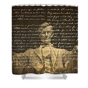 Gettysburg Address Shower Curtain