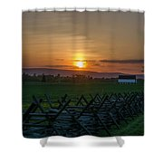 Gettysburg At Sunset Shower Curtain