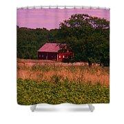 Gettysburg Barn Shower Curtain