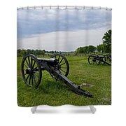 Gettysburg Battlefield Cannons Shower Curtain
