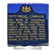 Gettysburg Campaign Shower Curtain