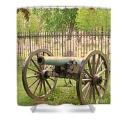 Gettysburg Cannon Cemetery Hill Shower Curtain