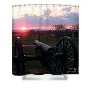 Gettysburg Cannon Shower Curtain