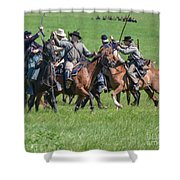 Gettysburg Cavalry Battle 7948c  Shower Curtain