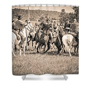 Gettysburg Cavalry Battle 7970s  Shower Curtain