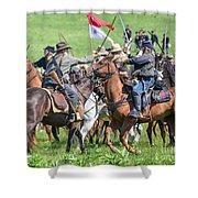 Gettysburg Cavalry Battle 8021c  Shower Curtain