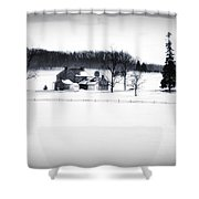 Gettysburg Farm In Winter Shower Curtain