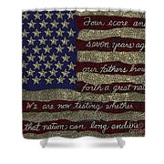 Gettysburg Homage Flag Shower Curtain