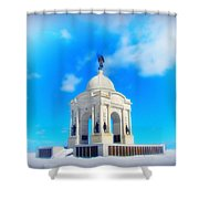 Gettysburg Memorial In Winter Shower Curtain