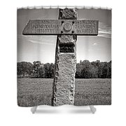 Gettysburg National Park 142nd Pennsylvania Infantry Monument Shower Curtain