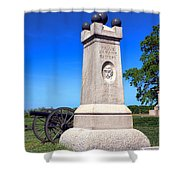 Gettysburg National Park 2nd Maine Battery Memorial Shower Curtain