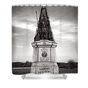 Gettysburg National Park 42nd New York Infantry Monument Shower Curtain