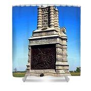 Gettysburg National Park 6th New York Cavalry Memorial Shower Curtain