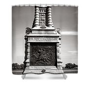 Gettysburg National Park 6th New York Cavalry Monument Shower Curtain
