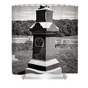 Gettysburg National Park 6th Wisconsin Iron Brigade Monument Shower Curtain
