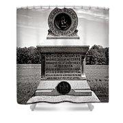Gettysburg National Park 80th New York Infantry Militia Monument Shower Curtain