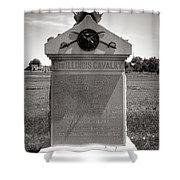 Gettysburg National Park 8th Illinois Cavalry Monument Shower Curtain