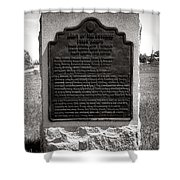 Gettysburg National Park Army Of The Potomac Third Division Monument Shower Curtain
