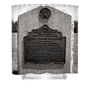 Gettysburg National Park Army Of The Potomac Second Brigade Horse Artillery Shower Curtain