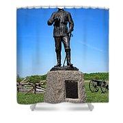 Gettysburg National Park Major General John Buford Memorial Shower Curtain