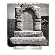 Gettysburg National Park Third West Virginia Cavalry Monument Shower Curtain