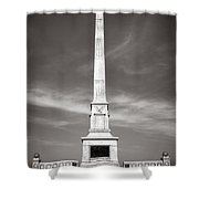 Gettysburg National Park United States Army Regulars Monument Shower Curtain