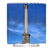 Gettysburg National Park Vermont Stannard Brigade Memorial Shower Curtain