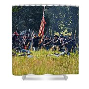 Gettysburg Union Infantry 9348c Shower Curtain