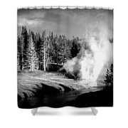 Geyser Shower Curtain by Carrie Putz
